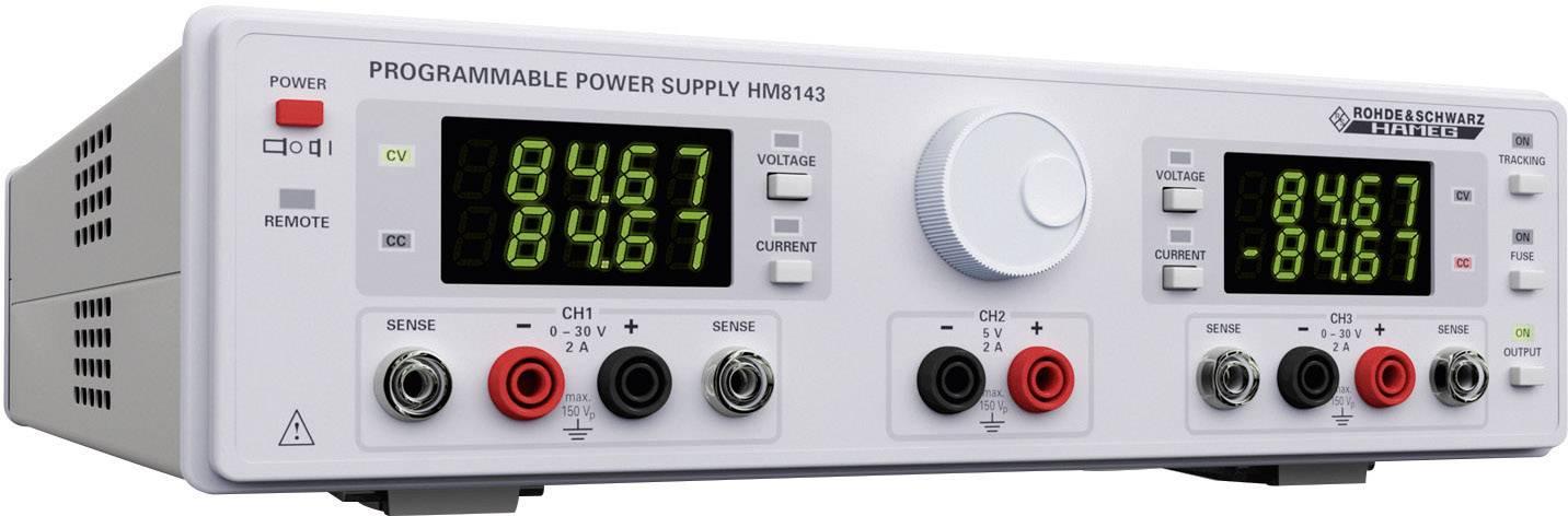 Síťový zdroj Hameg HM8143, 0 - 30 V, 0 - 2 A