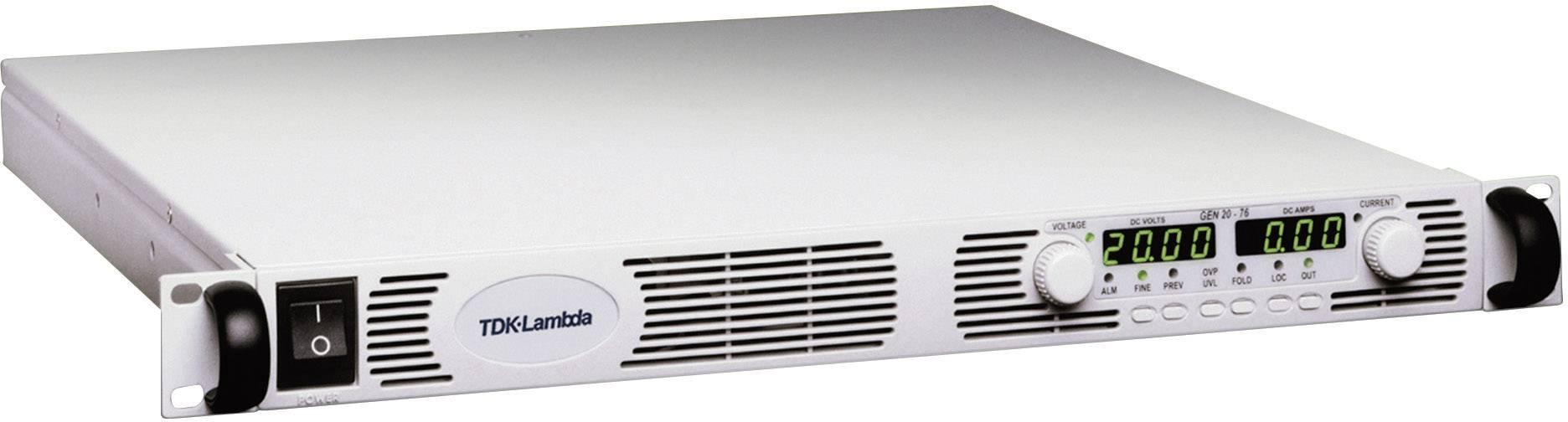 "19"" laboratórny zdroj s nastaviteľným napätím TDK-Lambda GEN-100-15, 0 - 100 V/DC, 0 - 15 A"