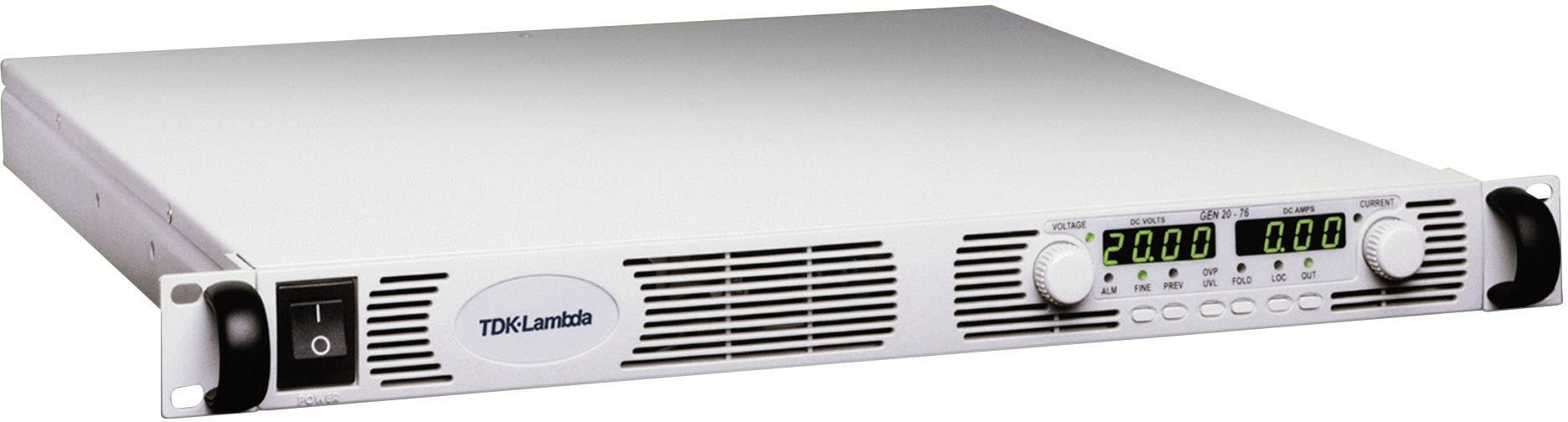"""19"""" laboratórny zdroj s nastaviteľným napätím TDK-Lambda GEN-300-5, 0 - 300 V/DC, 0 - 5 A"""