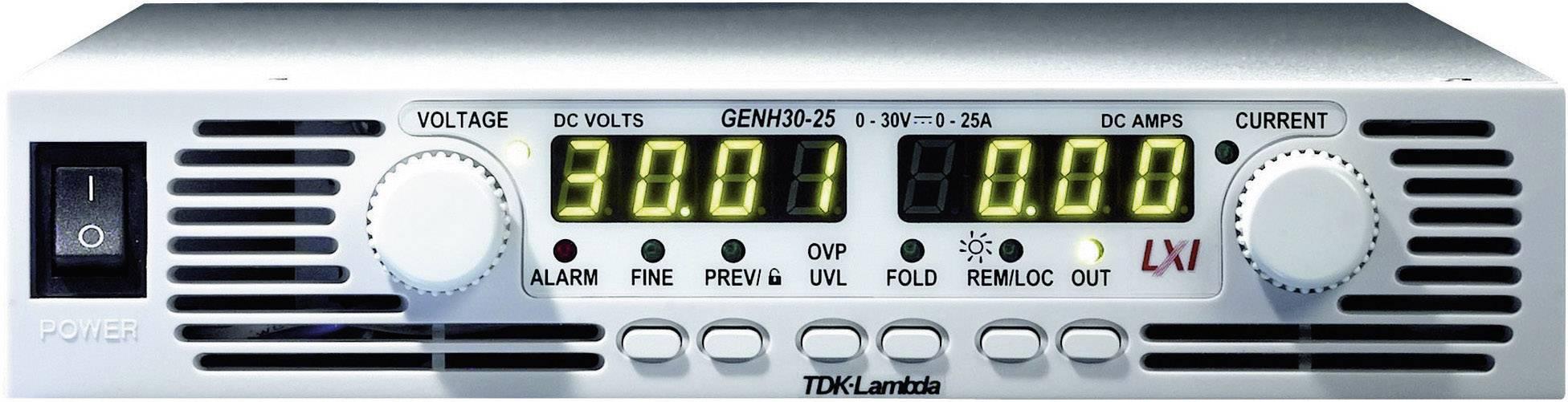 Laboratorní síťový zdroj TDK-Lambda, GENH-30-25/LN, 30 V/DC, 25 A