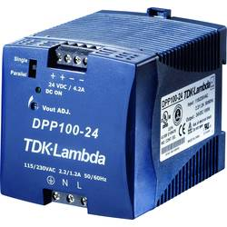 Sieťový zdroj na montážnu lištu (DIN lištu) TDK-Lambda DPP-100-24, 1 x, 24 V/DC, 4.2 A, 100 W