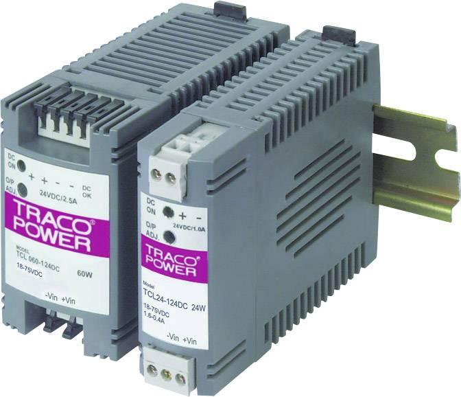 Sieťový zdroj na montážnu lištu (DIN lištu) TracoPower TCL 060-124DC, 1 x, 24 V/DC, 2.5 A, 60 W