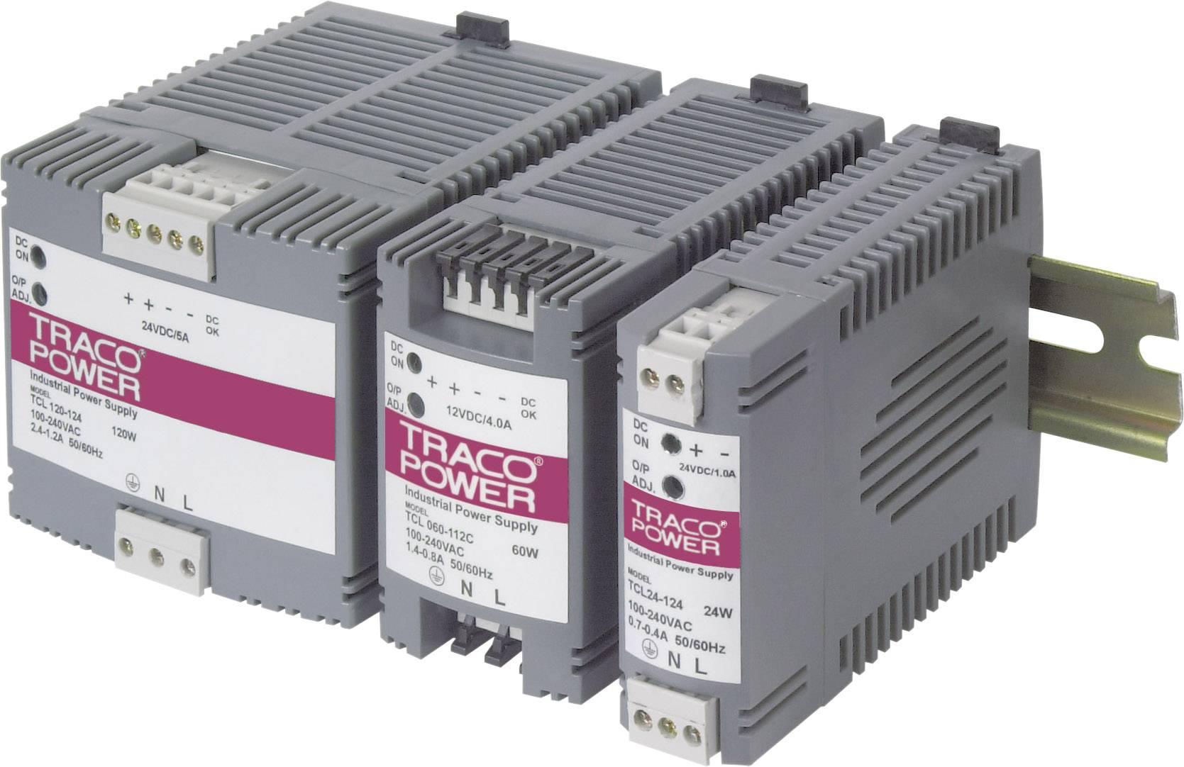 Sieťový zdroj na montážnu lištu (DIN lištu) TracoPower TCL 060-124, 1 x, 24 V/DC, 2.5 A, 60 W