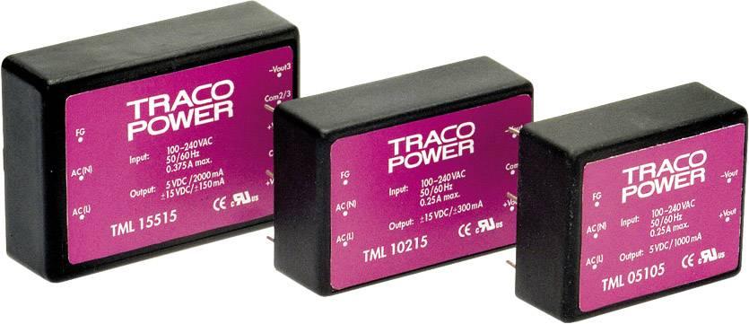 Sieťový zdroj AC/DC do DPS TracoPower TML 05112, 12 V/DC, 0.416 A, 5 W