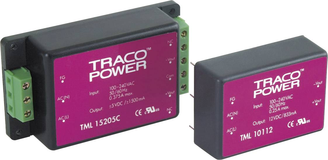 Síťový zdroj do DPS TracoPower TML 15215, 15 V, 500 mA