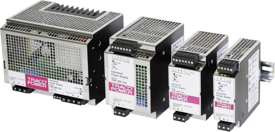 Sieťový zdroj na montážnu lištu (DIN lištu) TracoPower TSP 360-124, 1 x, 24 V/DC, 15 A, 360 W