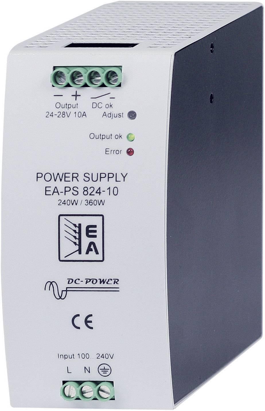 Síťový zdroj na DIN lištu EA Elektro-Automatik EA-PS 824-10SM, 1 x, 24 V/DC, 10 A, 240 W