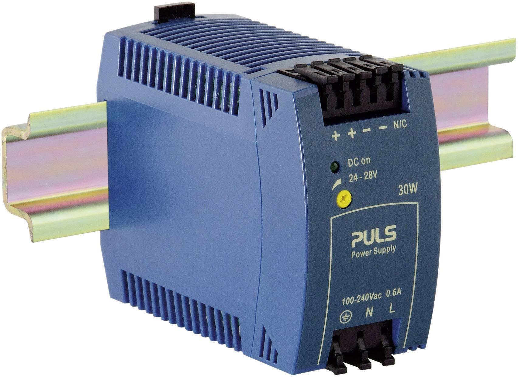 Sieťový zdroj na montážnu lištu (DIN lištu) PULS MiniLine ML30.100, 1 x, 24 V/DC, 1.3 A, 30 W
