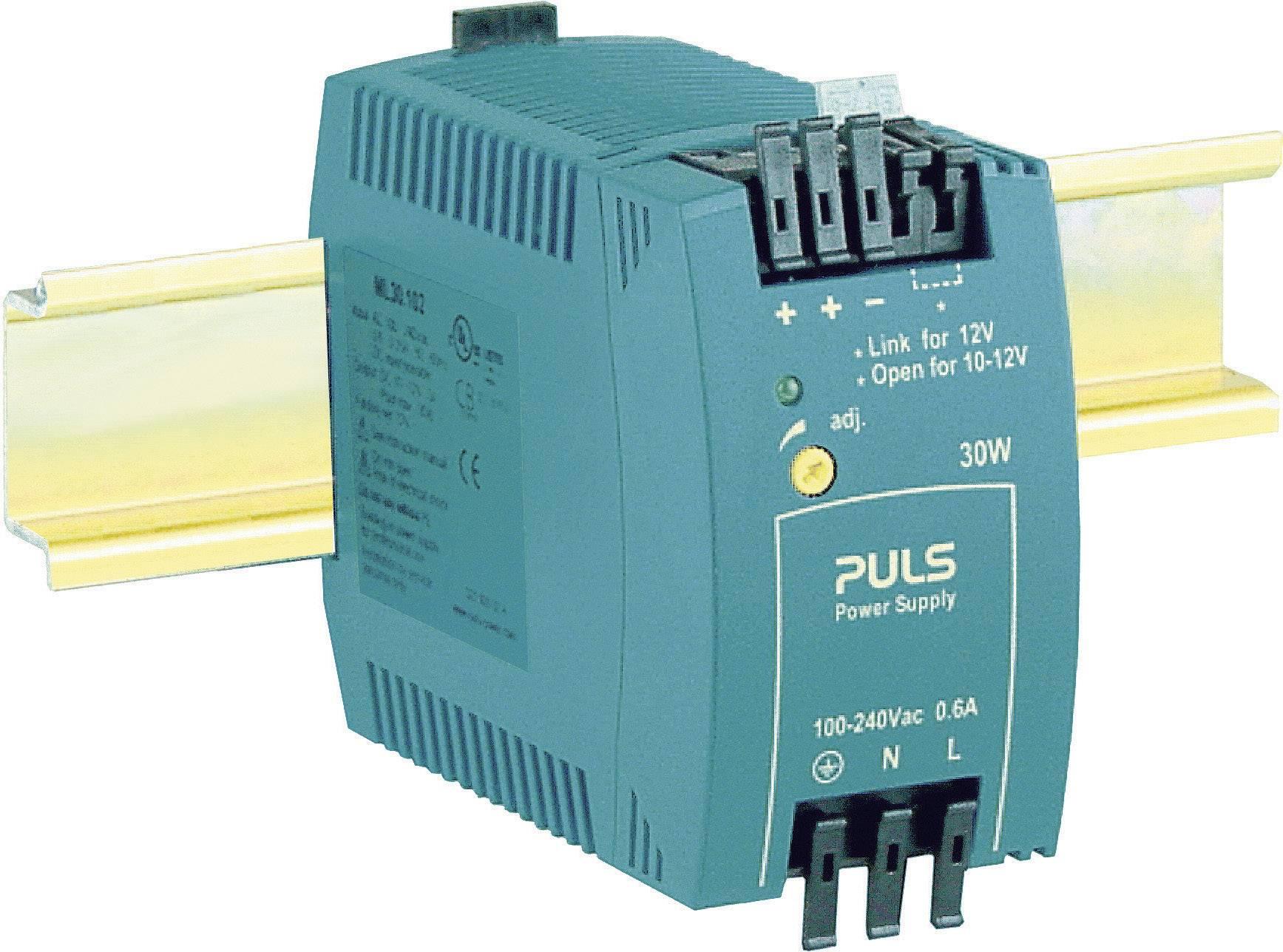 Sieťový zdroj na montážnu lištu (DIN lištu) PULS MiniLine ML30.102, 1 x, 12 V/DC, 2.5 A, 30 W