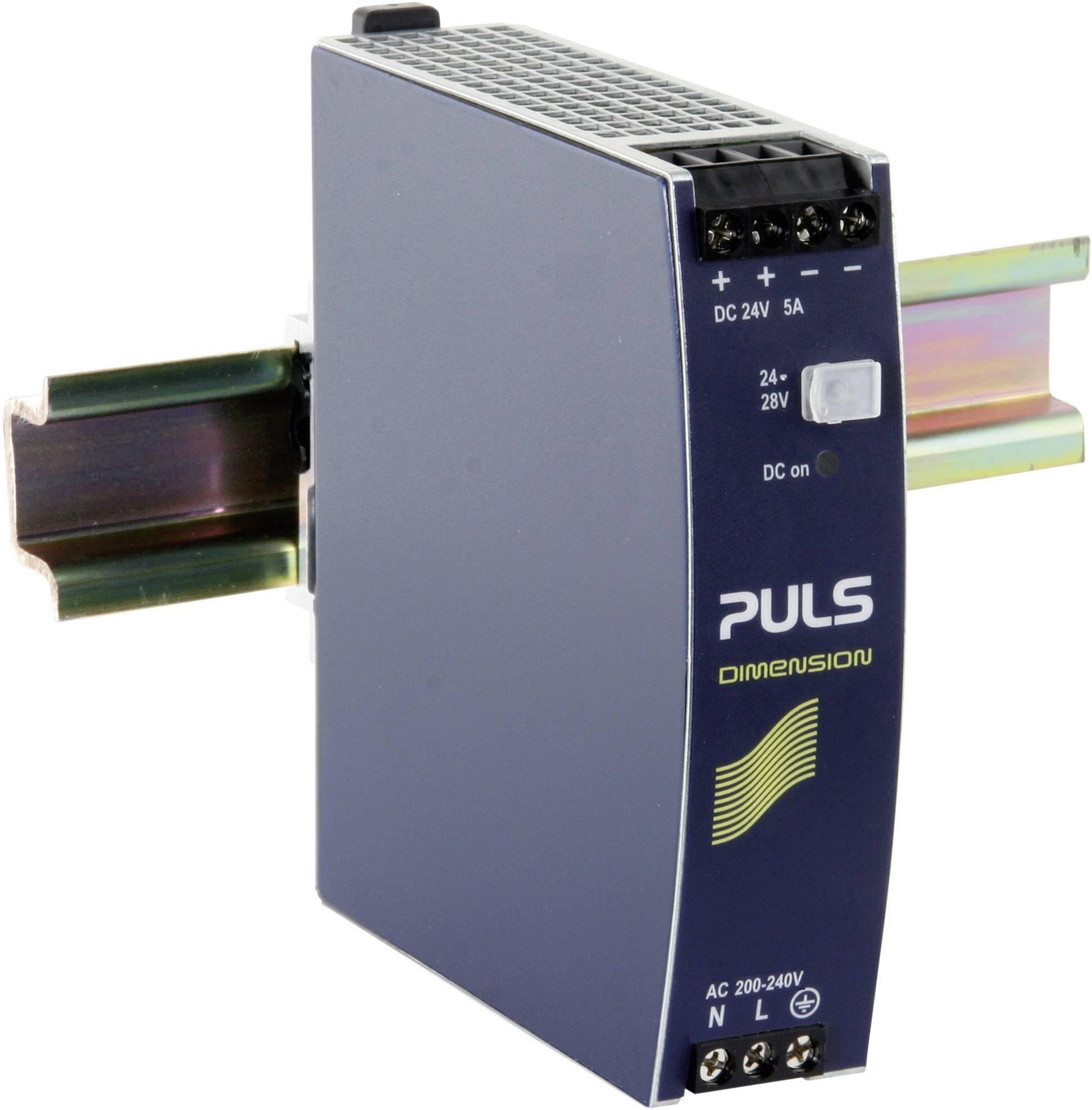 Sieťový zdroj na montážnu lištu (DIN lištu) PULS DIMENSION CS5.244, 1 x, 24 V/DC, 5 A, 120 W
