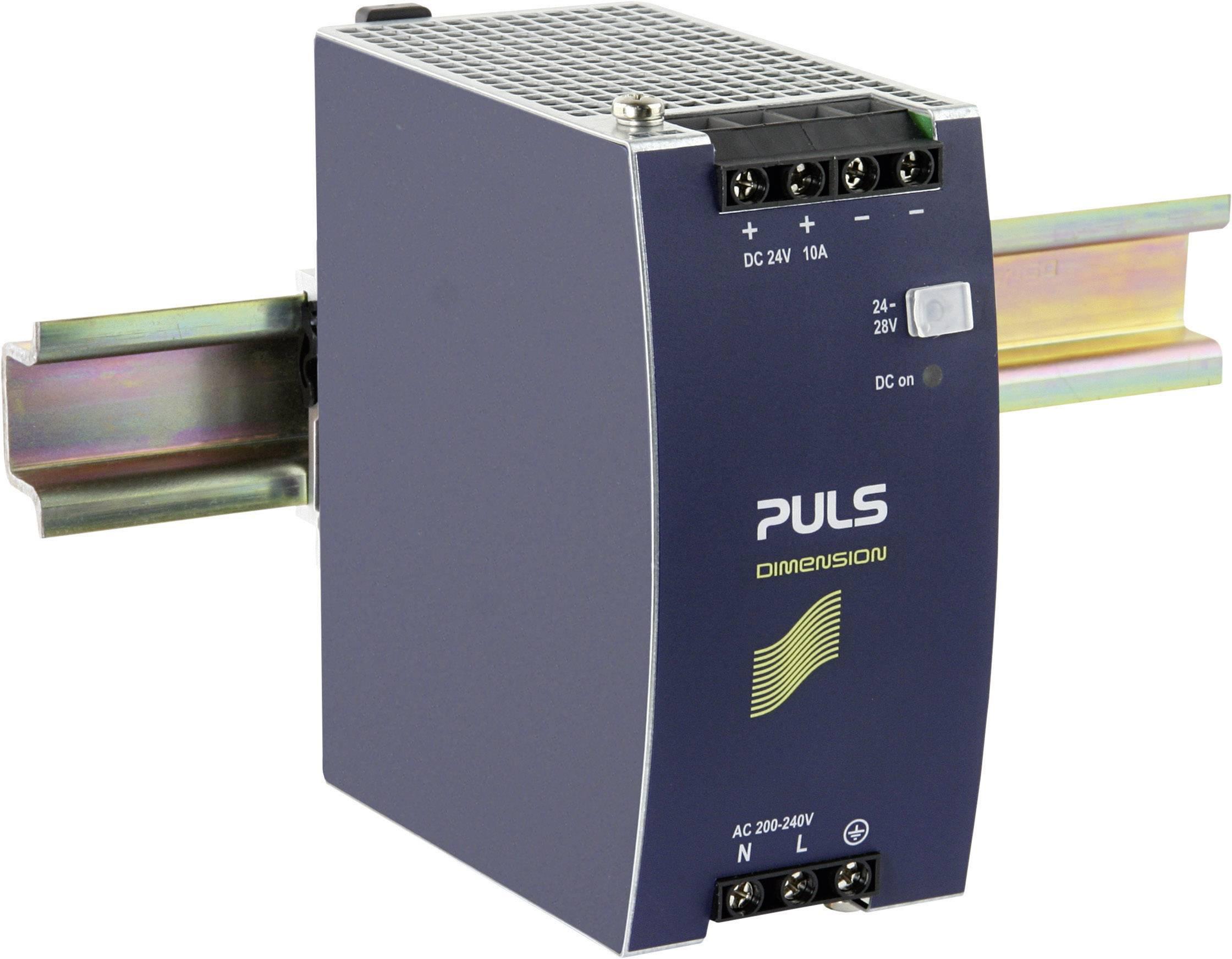 Sieťový zdroj na montážnu lištu (DIN lištu) PULS DIMENSION CS10.244, 1 x, 24 V/DC, 10 A, 240 W