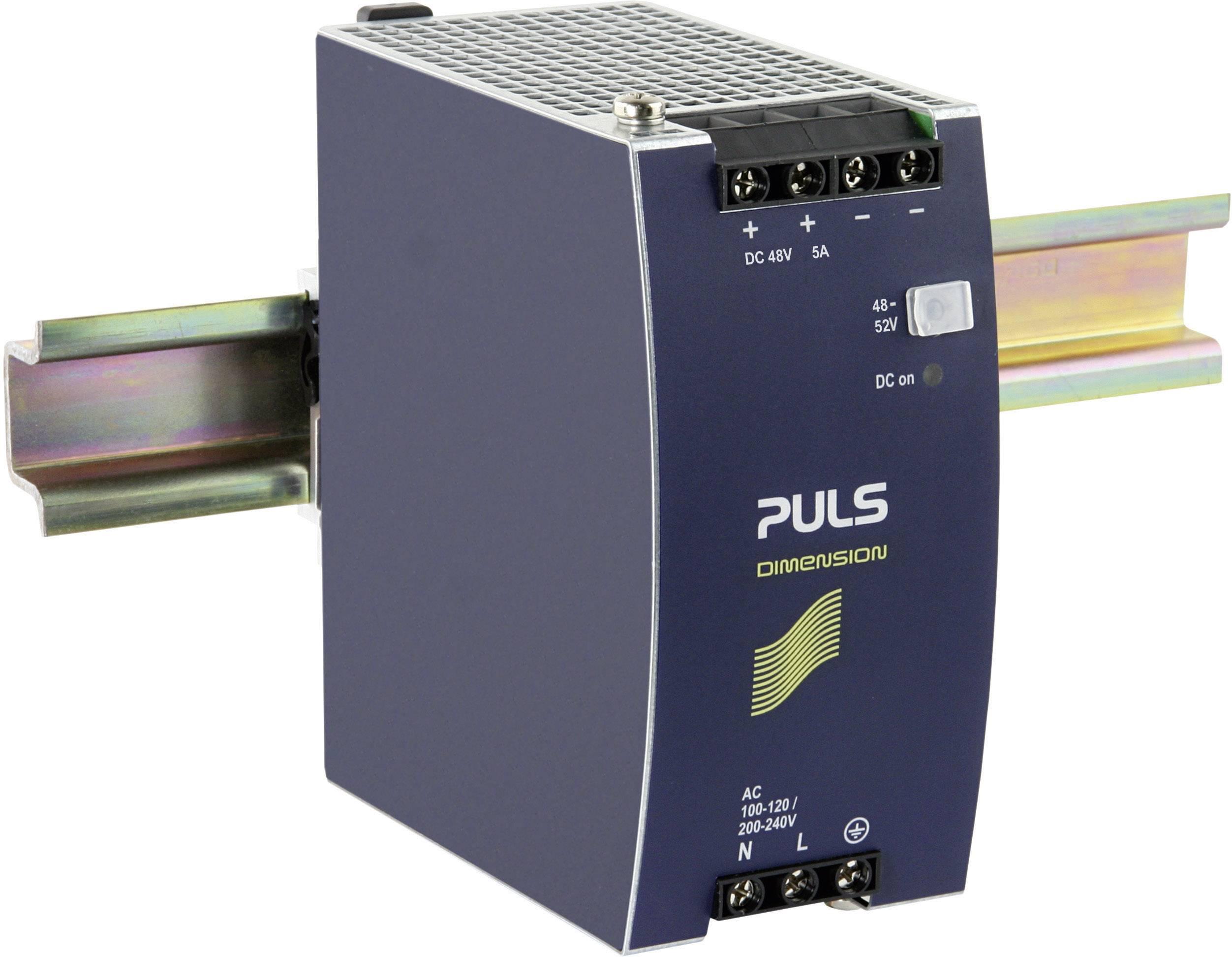 Sieťový zdroj na montážnu lištu (DIN lištu) PULS DIMENSION CS10.481, 1 x, 48 V/DC, 5 A, 240 W