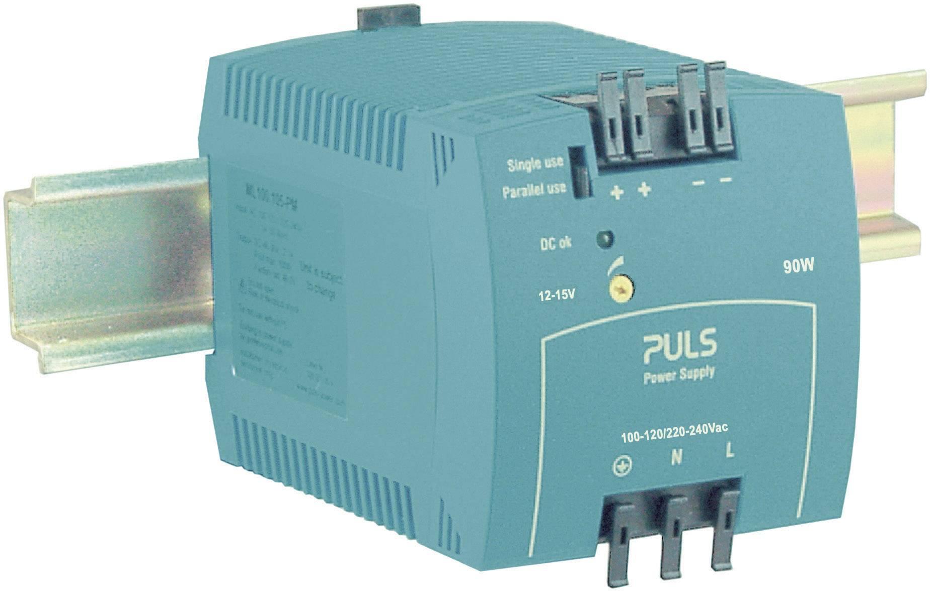 Sieťový zdroj na montážnu lištu (DIN lištu) PULS MiniLine ML100.102, 1 x, 12 V/DC, 7.5 A, 90 W