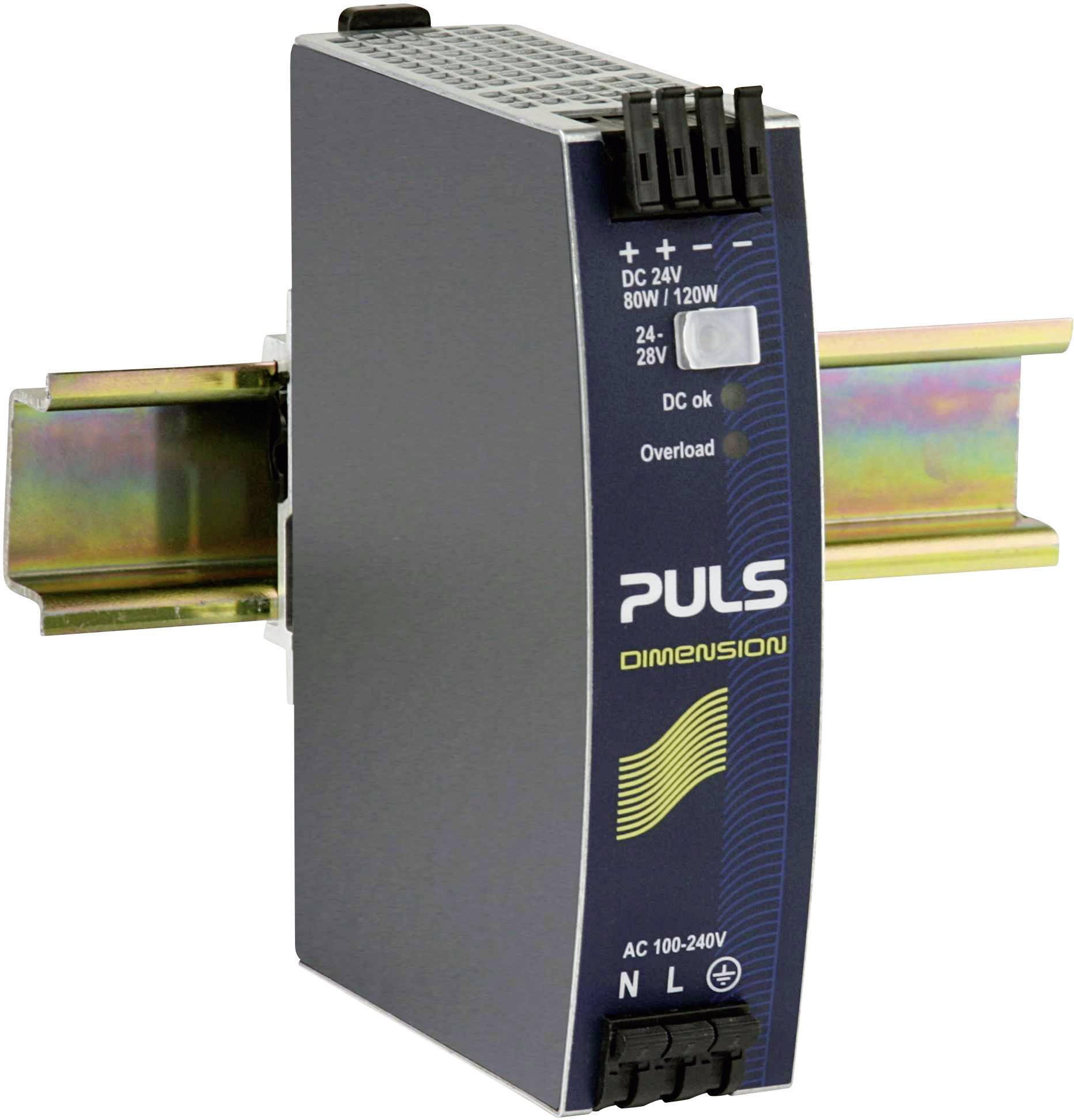 Sieťový zdroj na montážnu lištu (DIN lištu) PULS DIMENSION QS3.241, 1 x, 24 V/DC, 3.4 A, 80 W