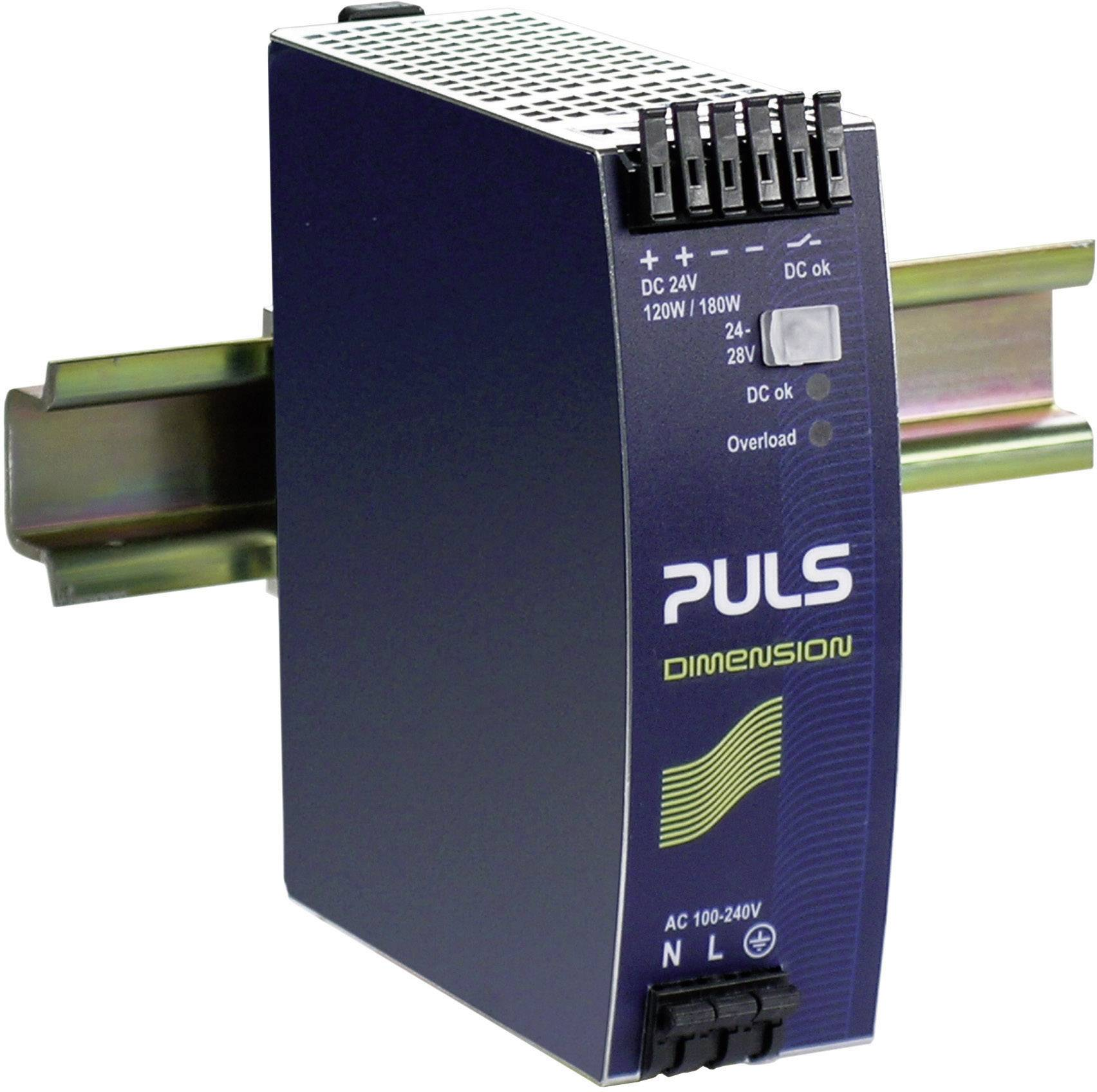 Zdroj na DIN lištu PULS Dimension QS5.241, 5 A, 24 V/DC