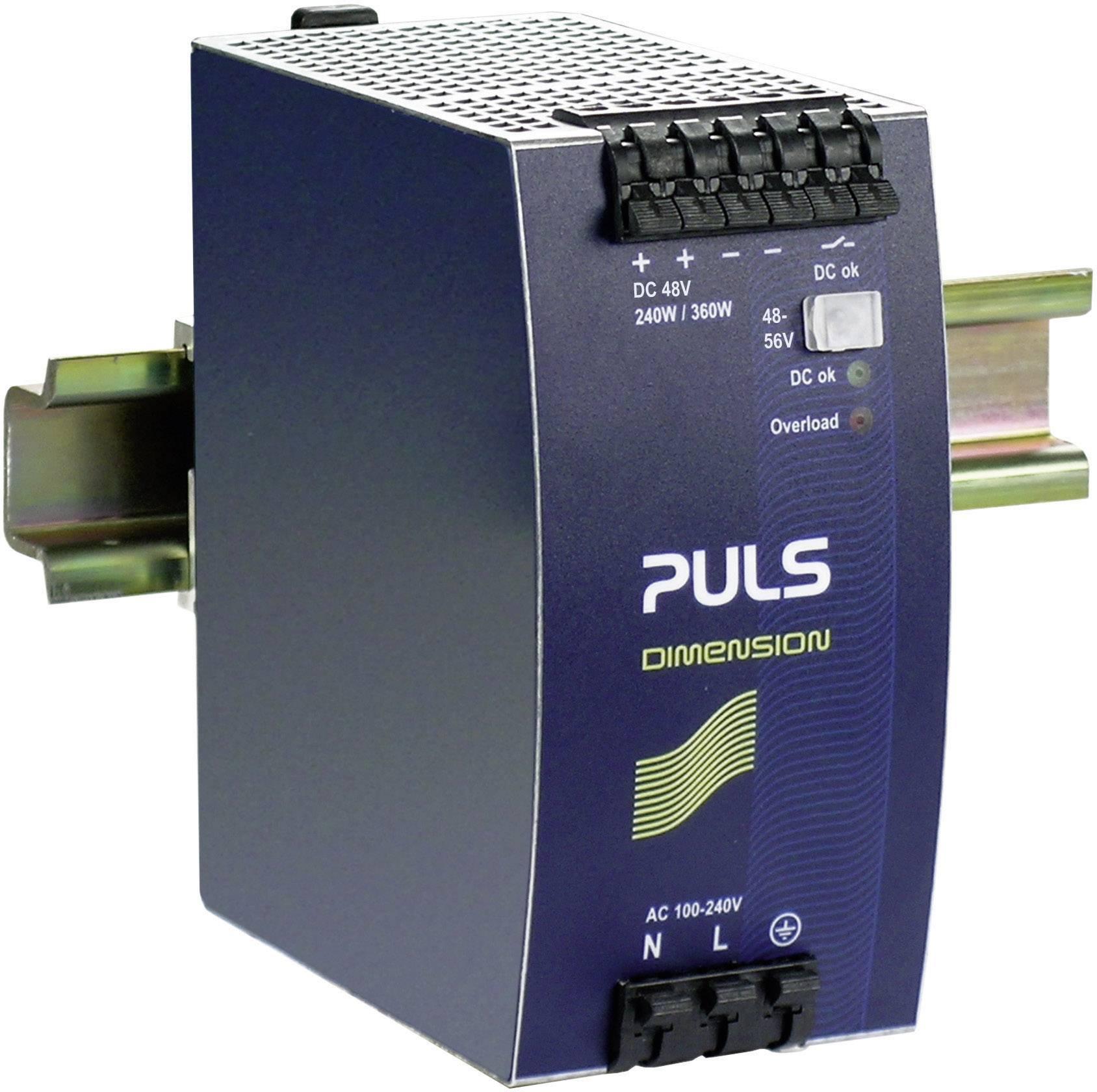 Sieťový zdroj na montážnu lištu (DIN lištu) PULS DIMENSION QS10.481, 1 x, 48 V/DC, 5 A, 240 W