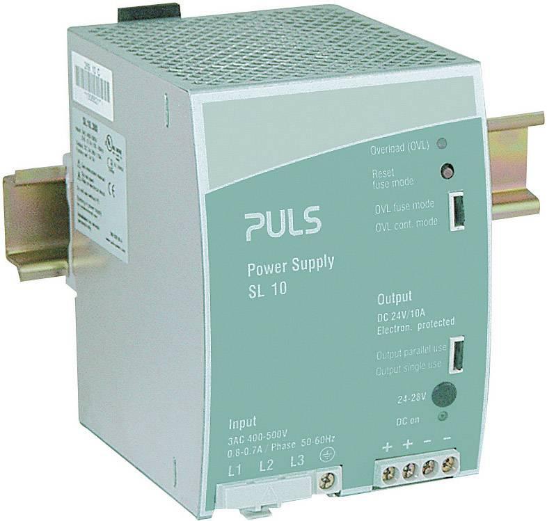Sieťový zdroj na montážnu lištu (DIN lištu) PULS SilverLine SL10.300, 1 x, 24 V/DC, 10 A, 240 W