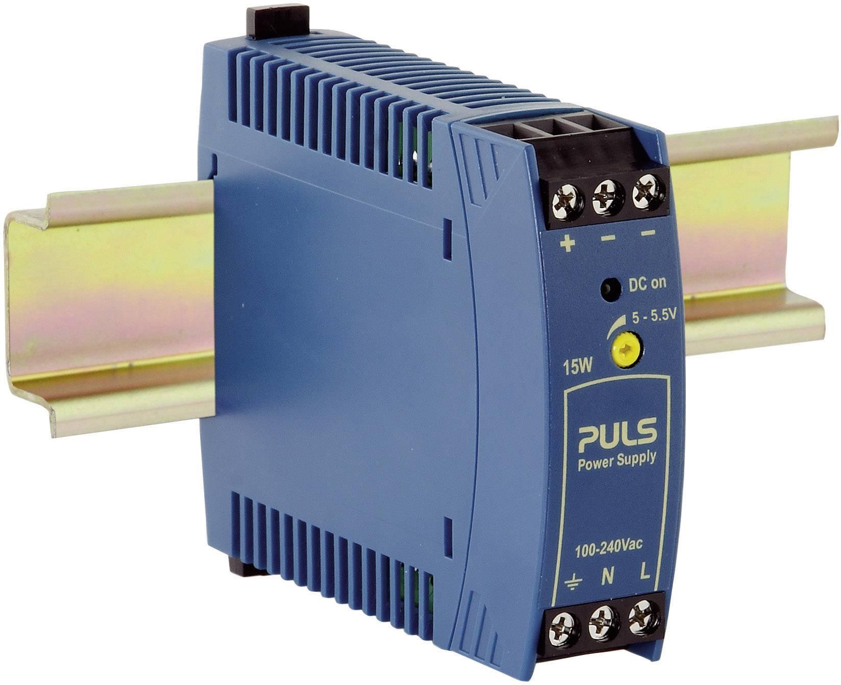 Sieťový zdroj na montážnu lištu (DIN lištu) PULS MiniLine ML15.051, 1 x, 5 V/DC, 3 A, 15 W