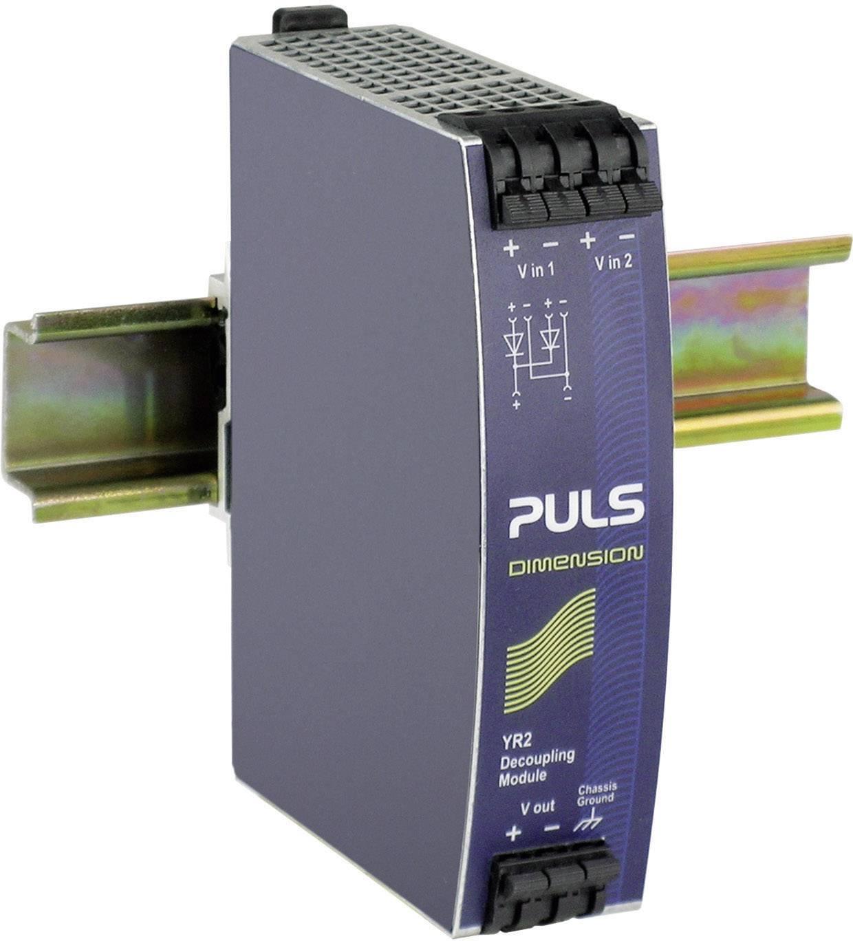 Diodový redundantní modul PULS YR2.DIODE na DIN lištu, 0,85 V/DC/20 A