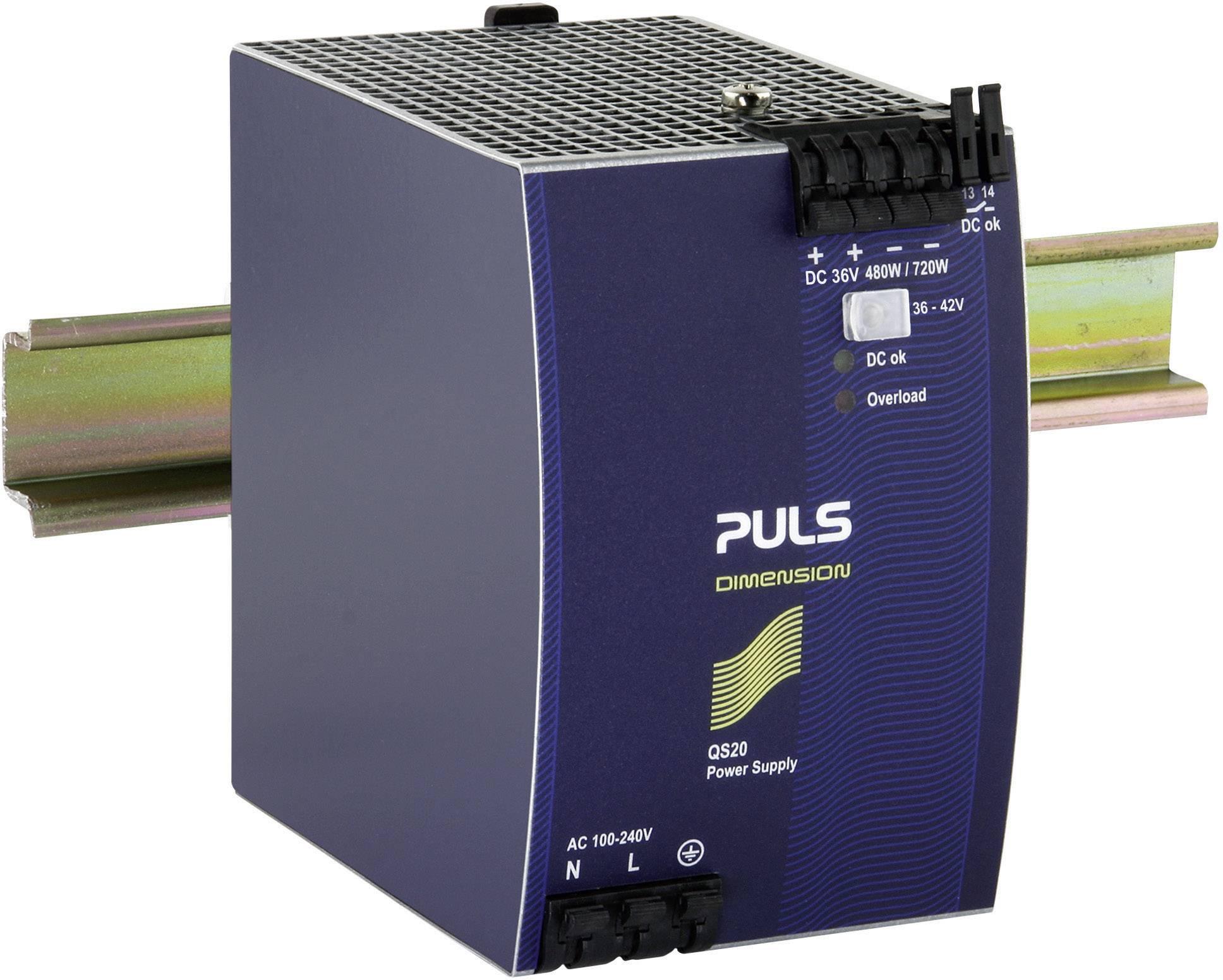 Sieťový zdroj na montážnu lištu (DIN lištu) PULS DIMENSION QS20.361, 1 x, 36 V/DC, 13 A, 480 W
