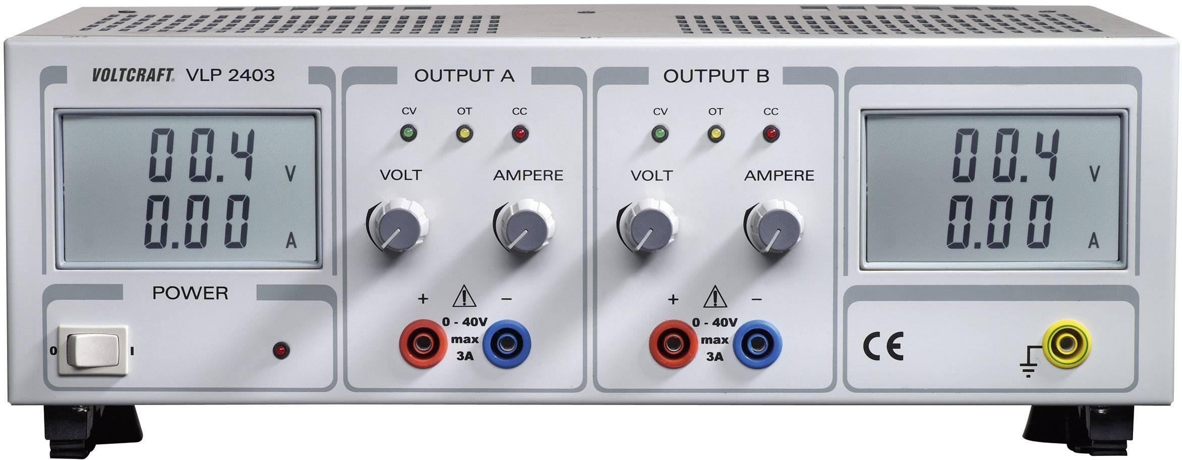 Lineárny laboratórny sietový zdroj Voltcraft VLP-2403, 0 - 40 V, 0 - 3 A
