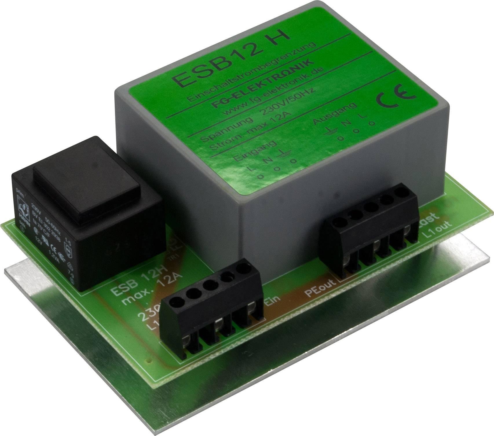 Omezovač náběhového proudu FG Elektronik ESB 12-H, 12 A, 2700 W, na DIN lištu