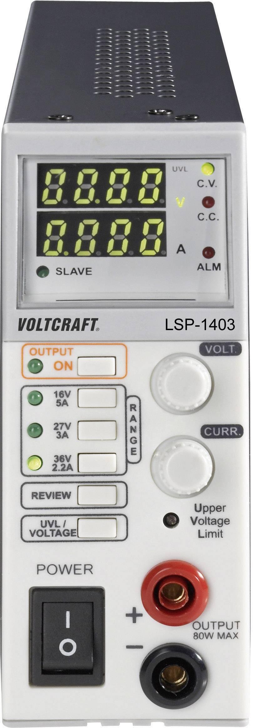 Laboratórny zdroj Voltcraft LSP-1403 Slim-Tower, 0 - 36 V, 0 - 5 A