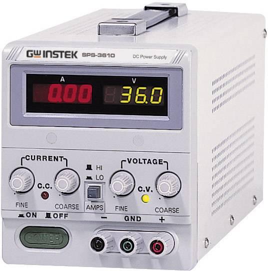 Laboratórny spínací sieťový zdroj GW Instek SPS-3610, 0 - 36 VDC, 0 - 10 A