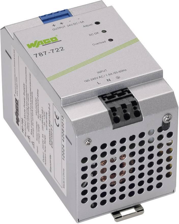 Sieťový zdroj na montážnu lištu (DIN lištu) WAGO EPSITRON® ECO POWER 787-722, 1 x, 24 V/DC, 5 A, 120 W