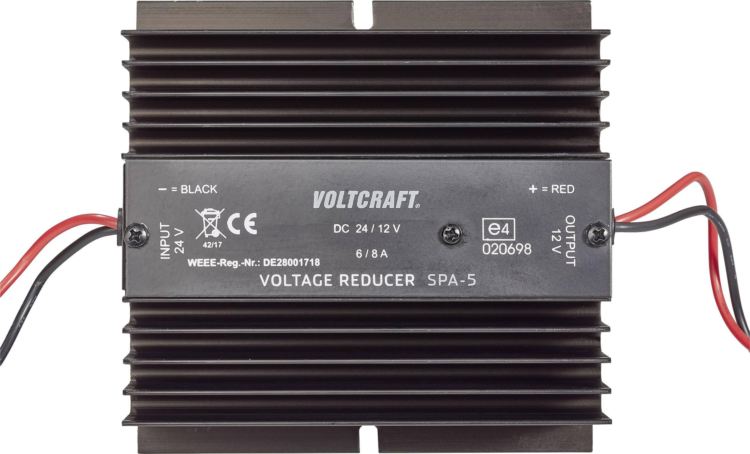 DC/DC měnič Voltcraft SPA-5, 24V/12V-6A, 72 W