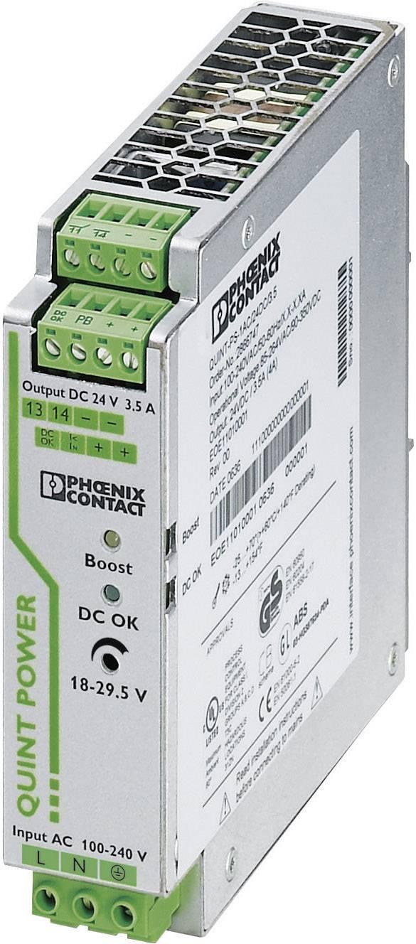 Sieťový zdroj na montážnu lištu (DIN lištu) Phoenix Contact QUINT-PS/24DC/12DC/ 8 12 V/DC 8 A 1 x