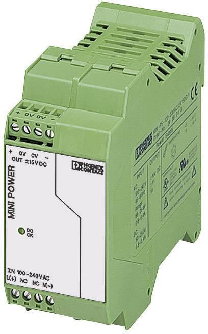 Sieťový zdroj na montážnu lištu (DIN lištu) Phoenix Contact MINI-PS-100-240AC/2X15DC/1, 2 x, 15 V/DC, -15 V/DC, 1 A, 15 W