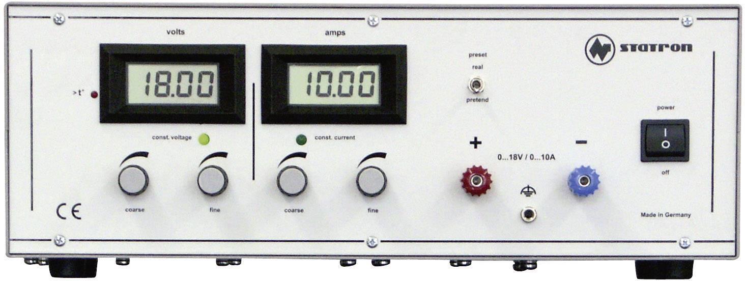 Lineární laboratorní zdroj Statron 3250.0, 0 - 18 V, 0 - 10 A