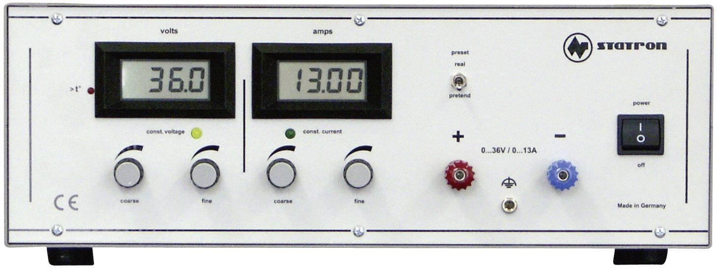 Lineární laboratorní zdroj Statron 3252.1, 0 - 36 V, 0 - 13 A