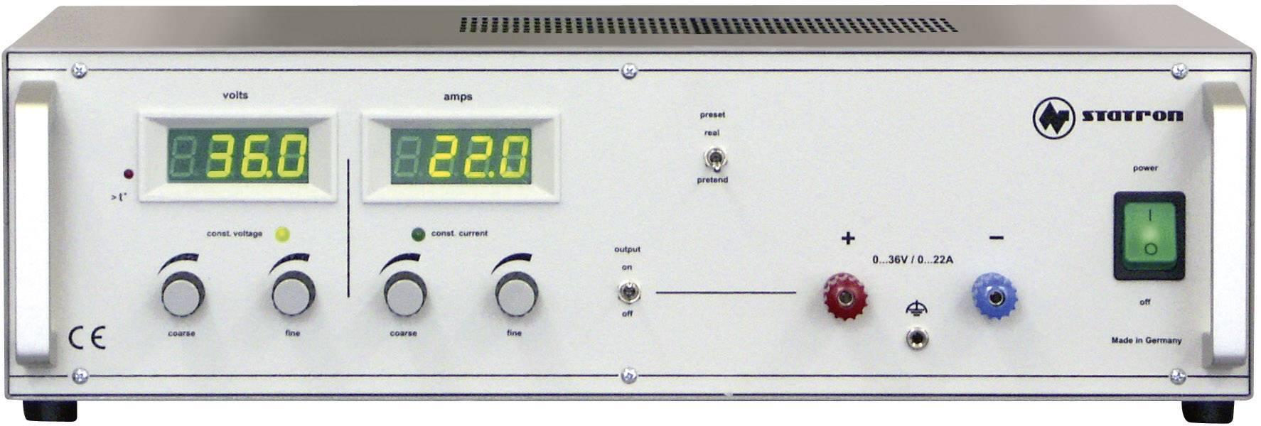 Lineární laboratorní zdroj Statron 3254.1, 0 - 36 V, 0 - 22 A