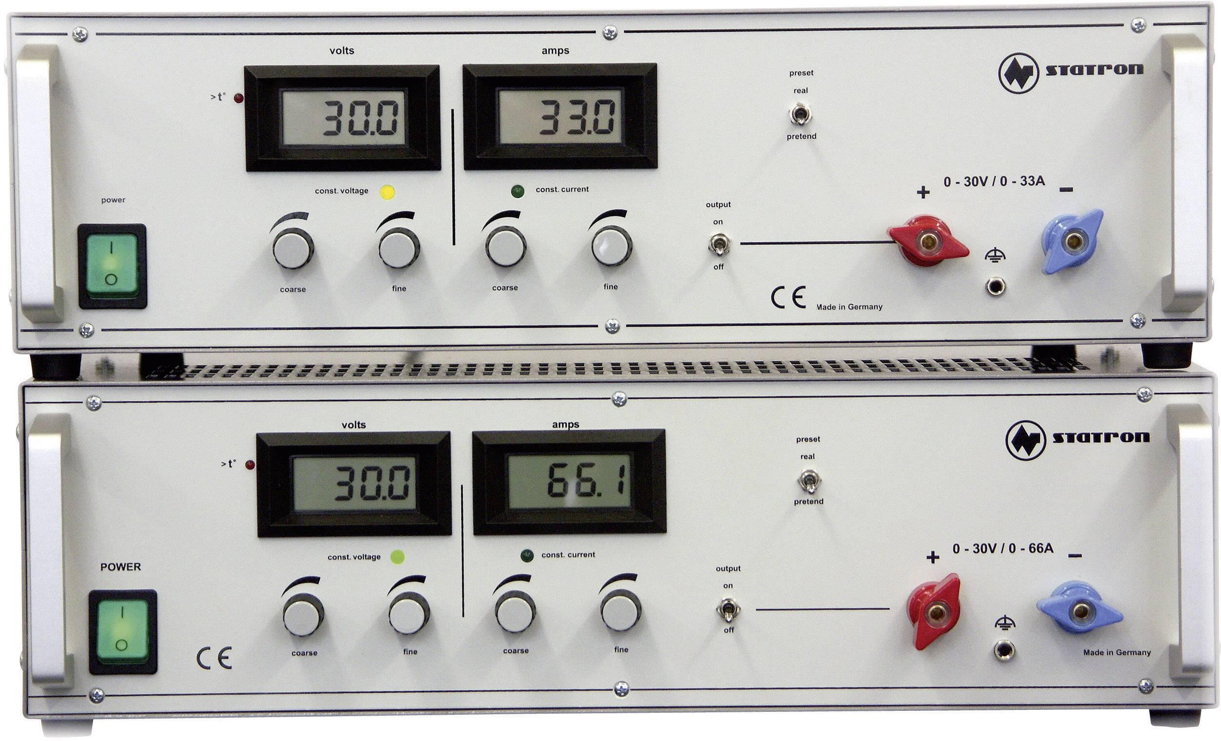 Programovateľný laboratórny sieťový zdroj Statron 3654.1, 0 - 30 V / DC, 0 - 33 A, 990 W