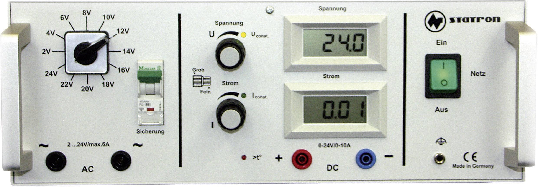 Programovatelný laboratorní síťový zdroj Statron 5340.6, 2 - 24 V/AC, 5 - 5 A, 360 W