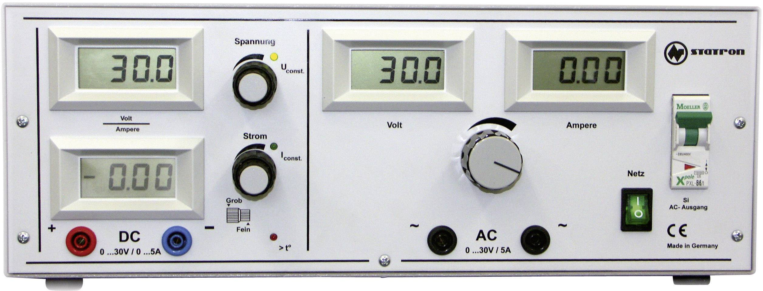 Univerzálny laboratórny zdroj Statron 5340.92, 0 - 30 V, 0 - 5 A