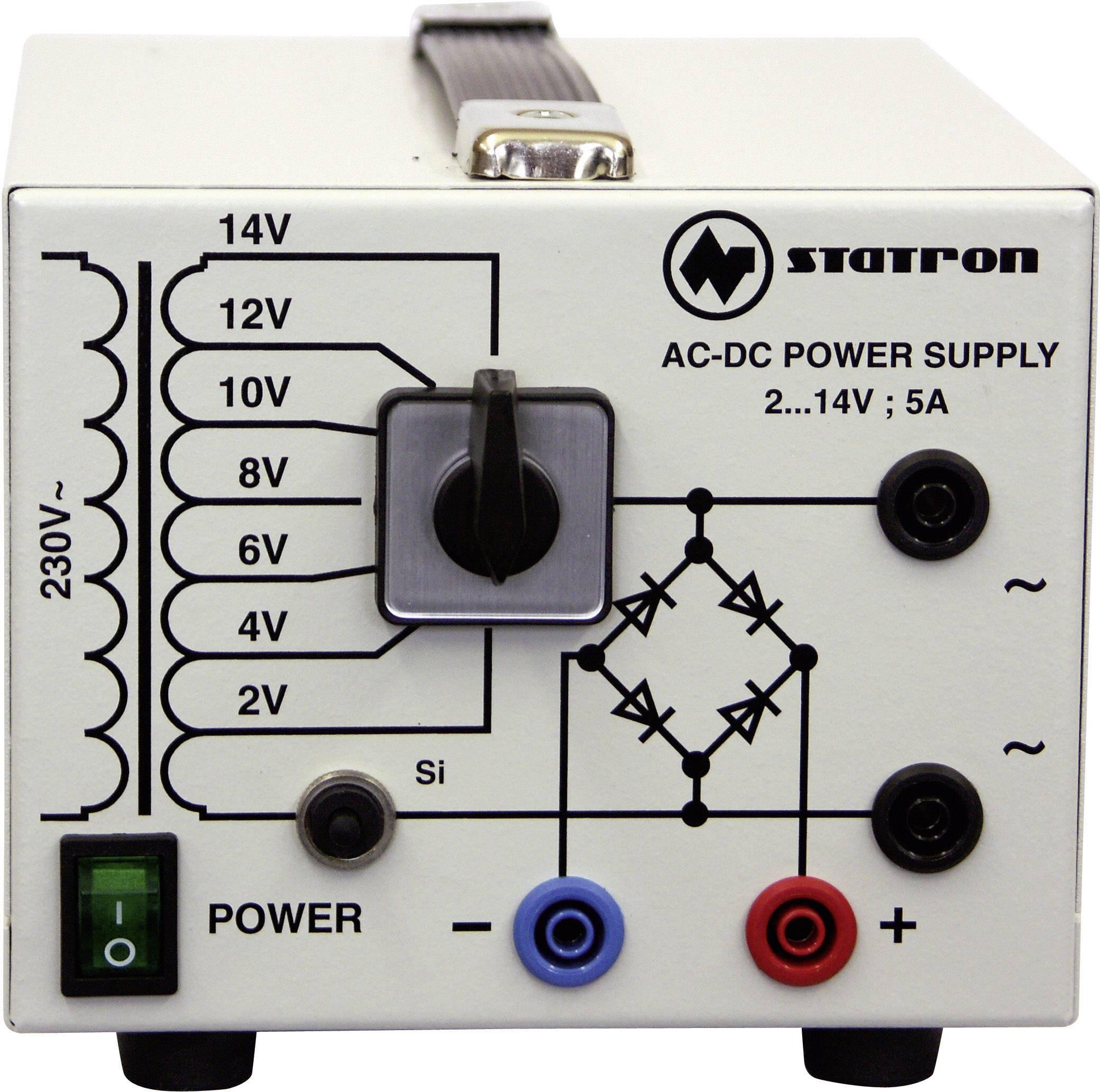 Univerzální laboratorní zdroj Statron 5359.3, 2 - 14 V, 0 - 5 A