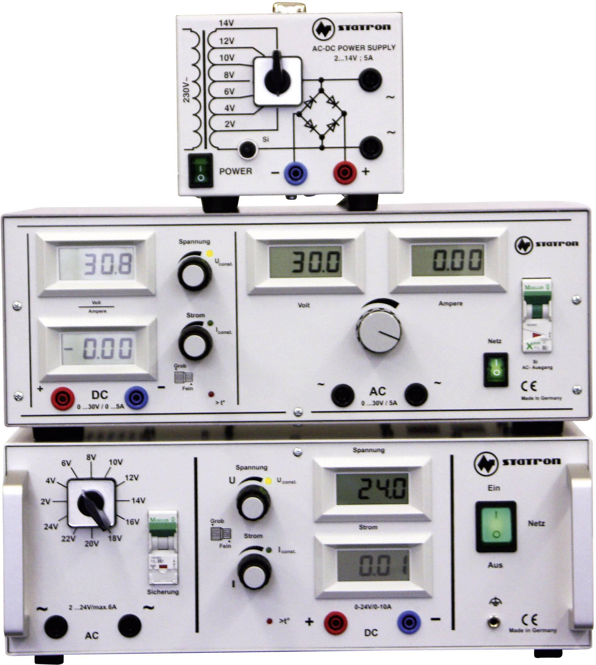 Univerzálny laboratórny zdroj Straton 5359.3, 2 - 14 V, 0 - 5 A