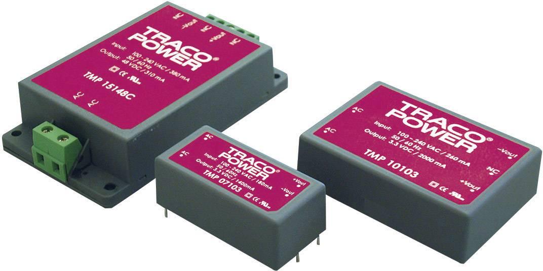 Zabudovateľný zdroj AC/DC TracoPower TMP 15215, 15 V/DC, 0.5 A, 15 W