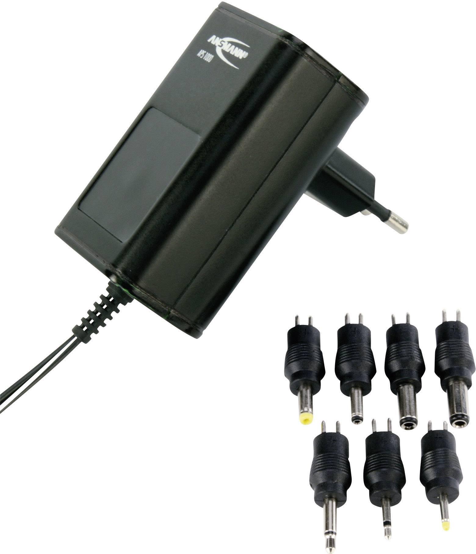 Sieťový adaptér s redukciami Ansmann APS 1000, 3 - 12 V/DC, 12 W