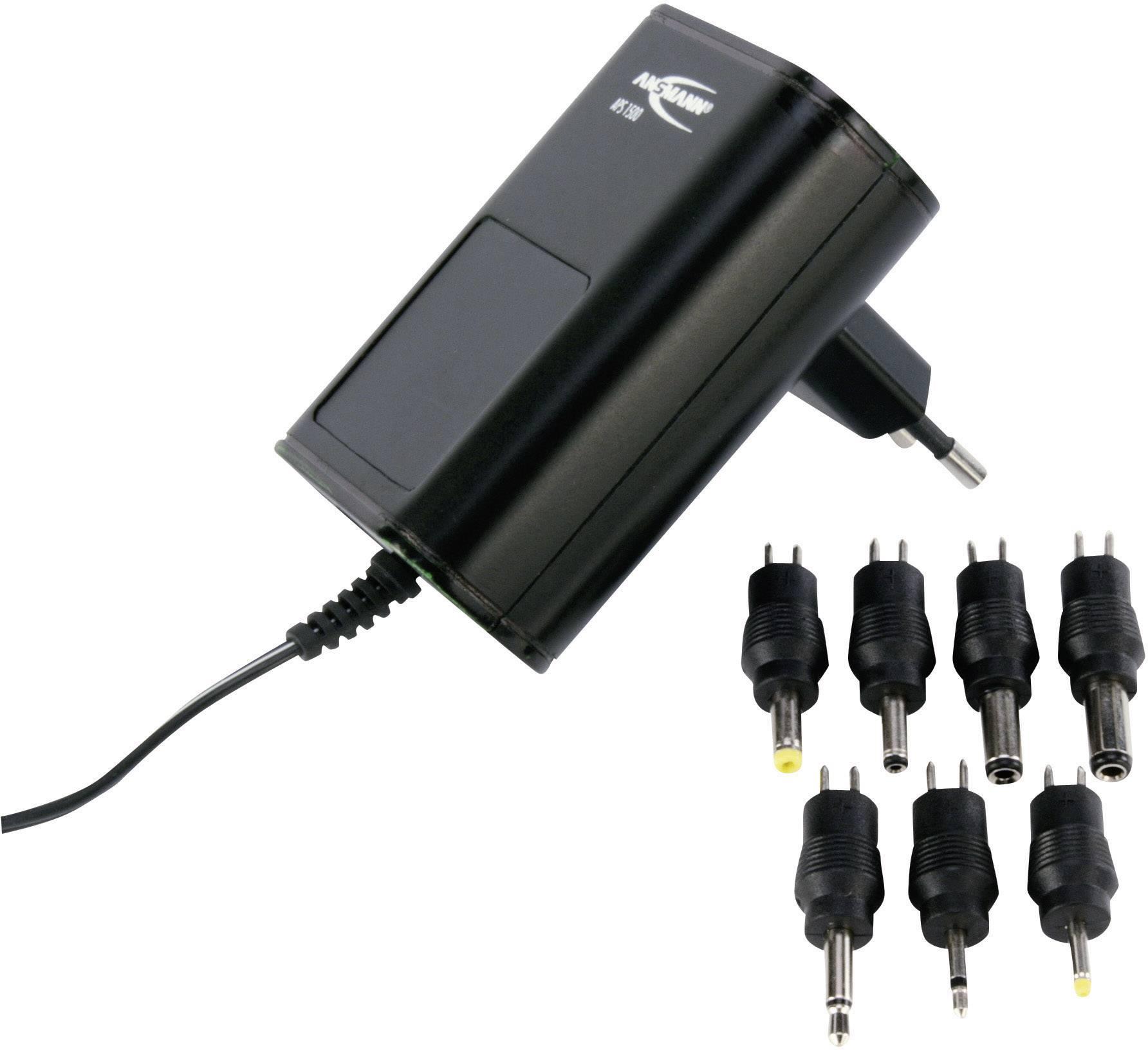 Sieťový adaptér s redukciami Ansmann APS 1500, 3 - 12 V/DC, 18 W