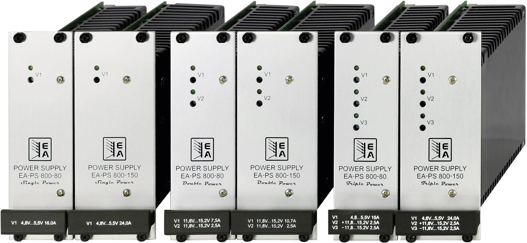 Síťový zdroj na DIN lištu EA-PS 812-24-80 Double, 12/24 V/DC, 7,5/2,5 A, 90 W