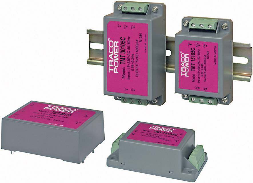 Síťový zdroj do DPS TracoPower TMT 15105C, 5 V, 3 A