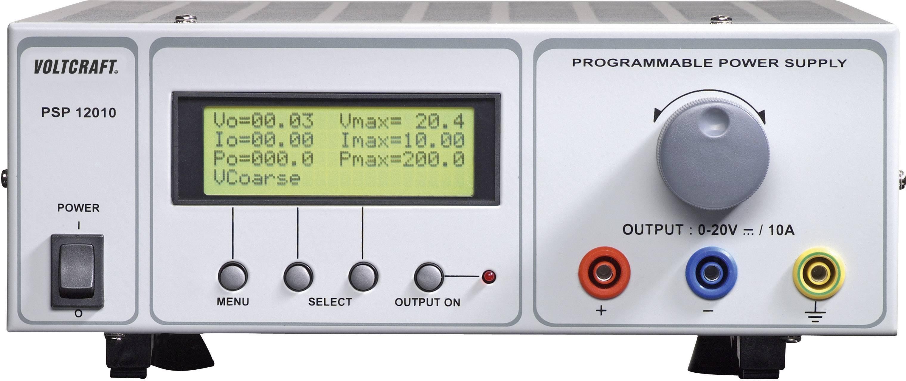 Programovateľný laboratórny sieťový zdroj Voltcraft PSP-12010, 0 - 20 VDC, 0 - 10 A