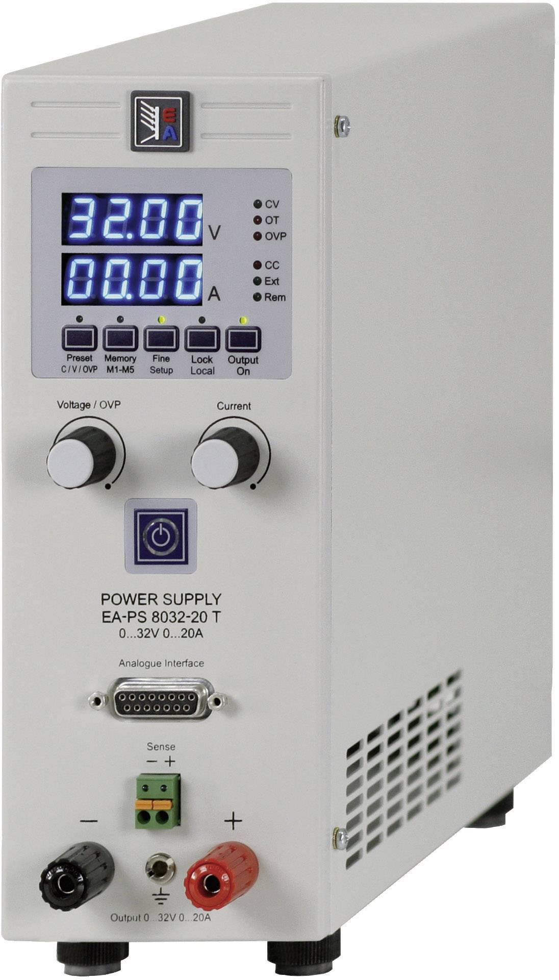 Laboratórny sieťový zdroj EA-PS 8032-20 T, 0 - 32 V/DC, 0 - 20 A, 640 W