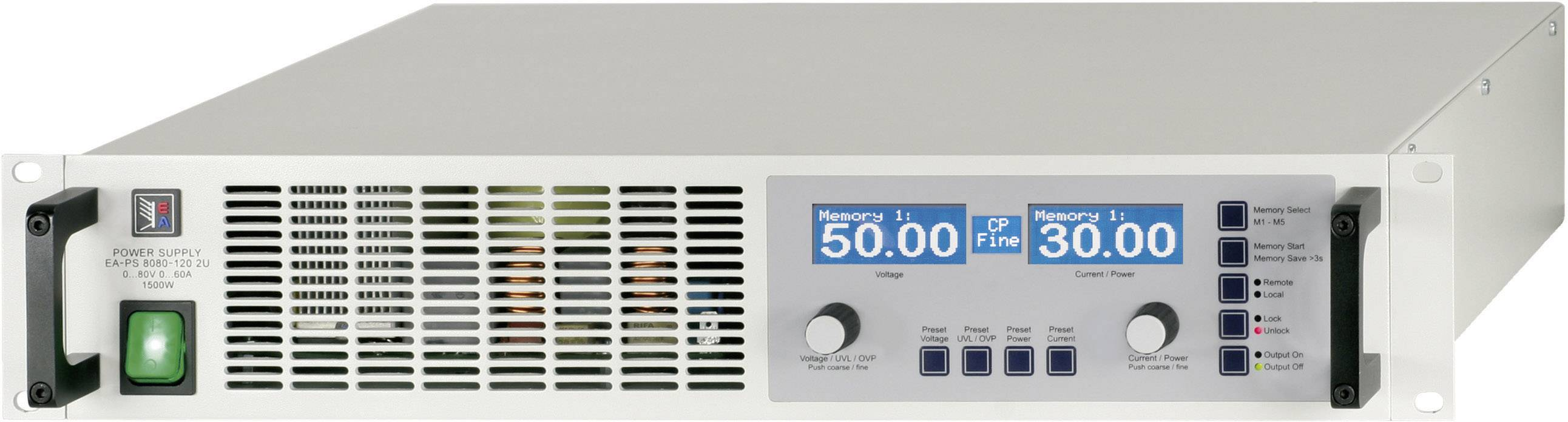 """19"""" laboratórny zdroj s nastaviteľným napätím EA Elektro-Automatik EA-PS 8080-60 2U, 0 - 80 V/DC, 0 - 60 A"""