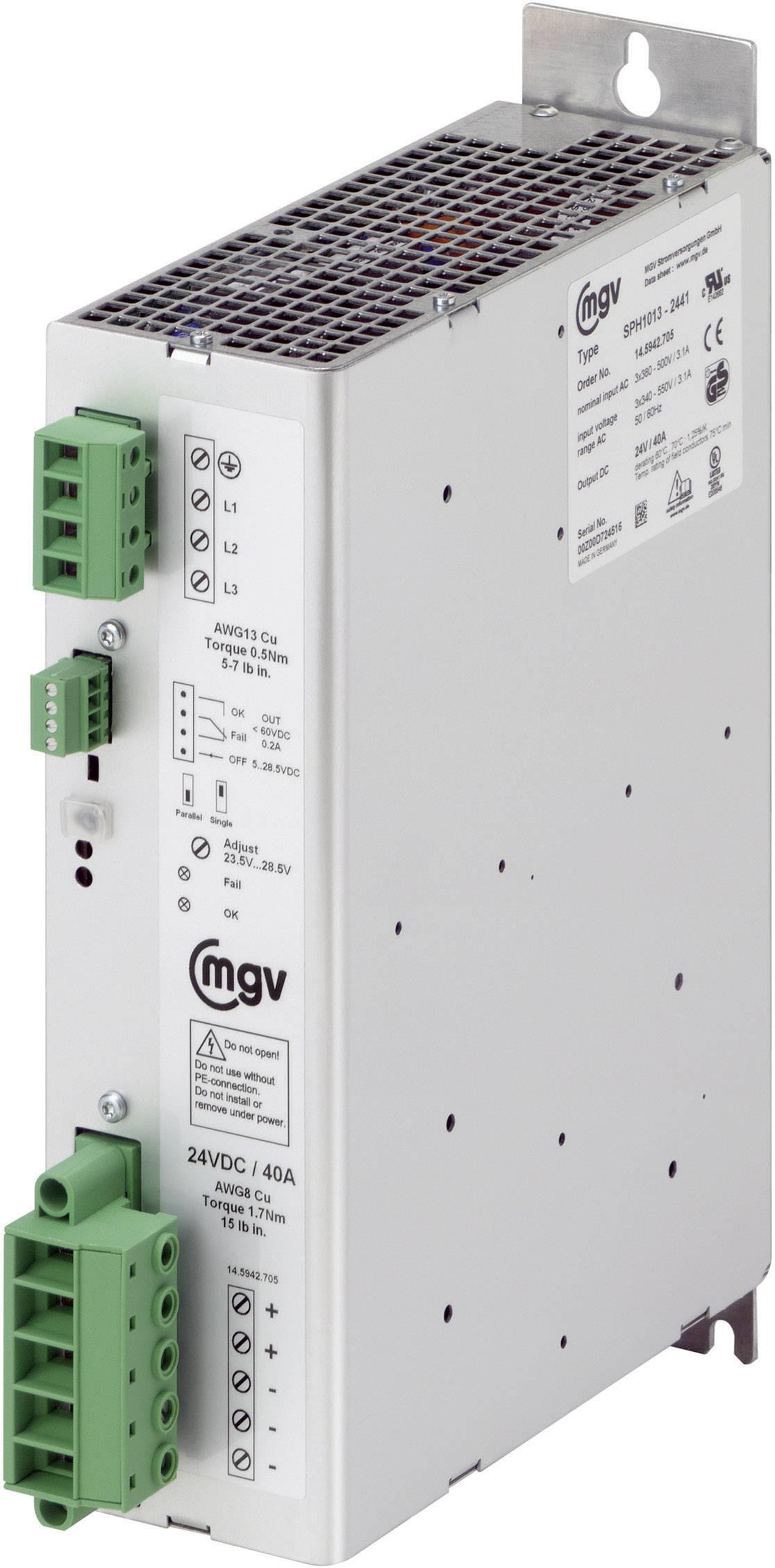 Zabudovateľný zdroj AC/DC mgv SPH1013-4821, 48 V/DC, 20 A, 1000 W