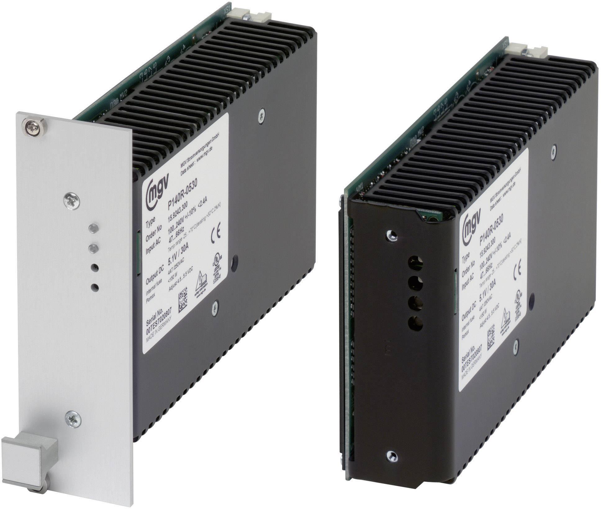 Síťový zdroj mgv P140R-1212 na DIN lištu, 12 V/DC / 12.5 A